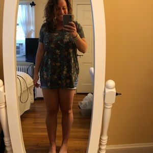 Floral teal tunic from Modcloth